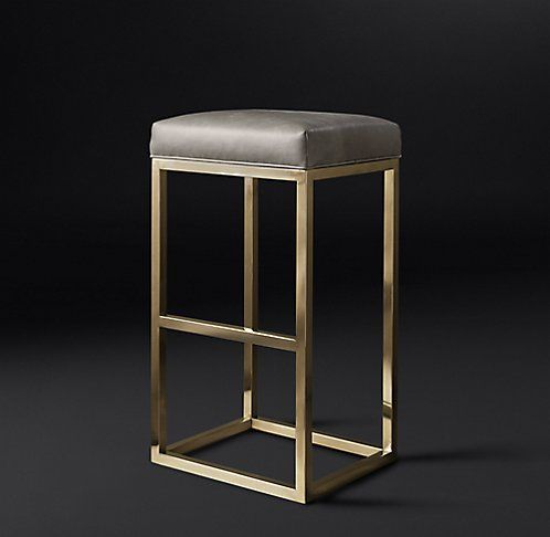 RH Modern's Reese Leather Stool Collection