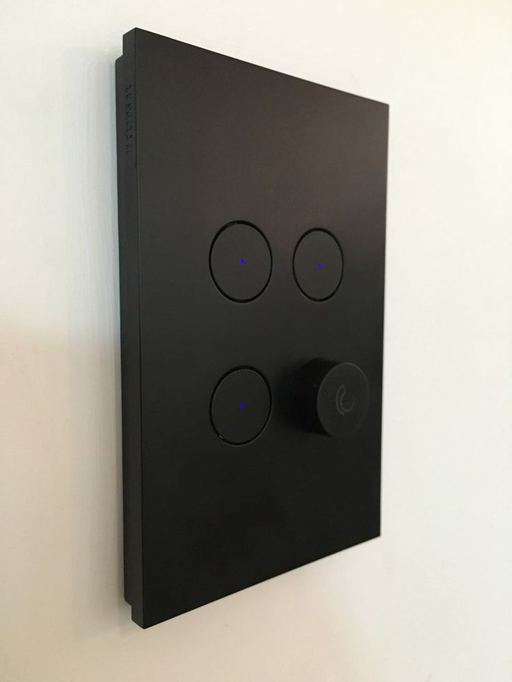 Clipsal Saturn Zen Series Matte Black 4 Gang Switch