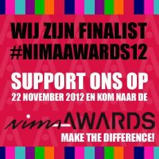 Hago Next finalist NIMA Awards 2012, hoe cool is dat?