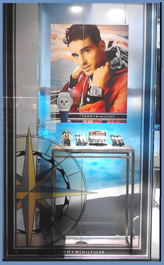 Tommy Hilfiger Watch Window Display