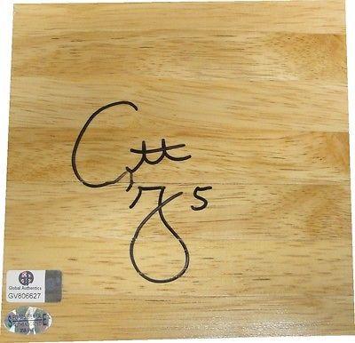 Cuttino Mobley Signed Piece of Wood Floorboard 6x6 Sacremento Kings GA GV 806627