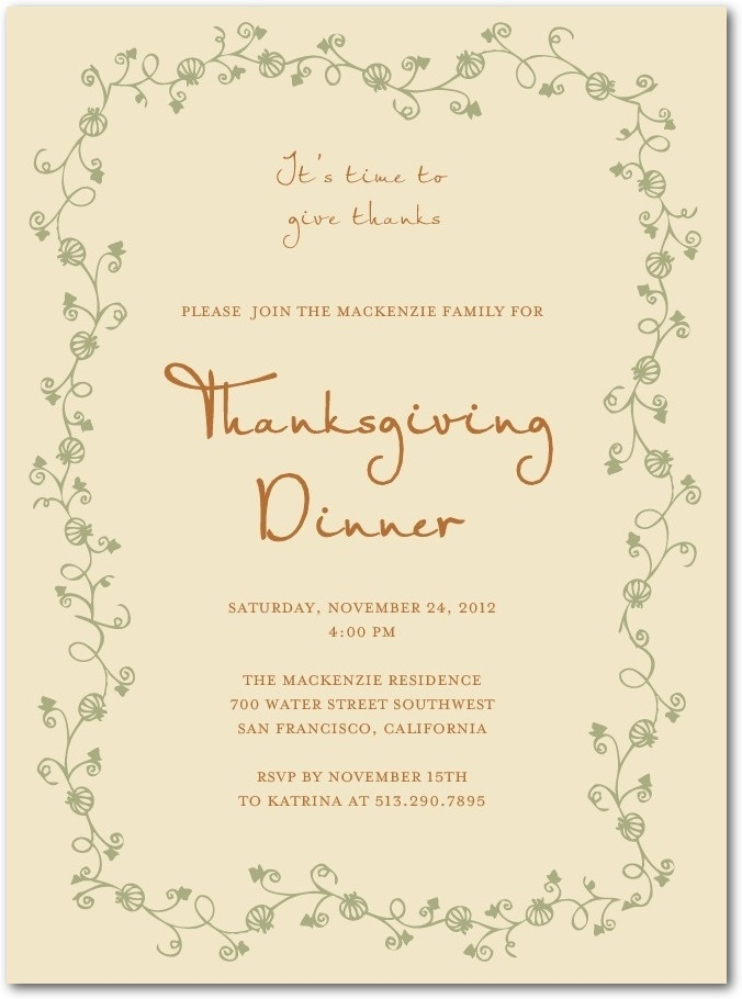 530 best Invitations & Cards images on Pinterest | Thanksgiving ...