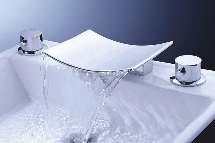 Contemporary Bathtub Faucet Waterfall Spout Tub Filler Chrome 6107-Wholesale Faucet