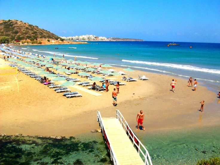Almyros beach in Agios Nikolaos Crete