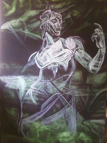 Author: Giò Max Ran Title: HYBRID Measurements: 100cm x 150cm Technique: Acrylic on canvas
