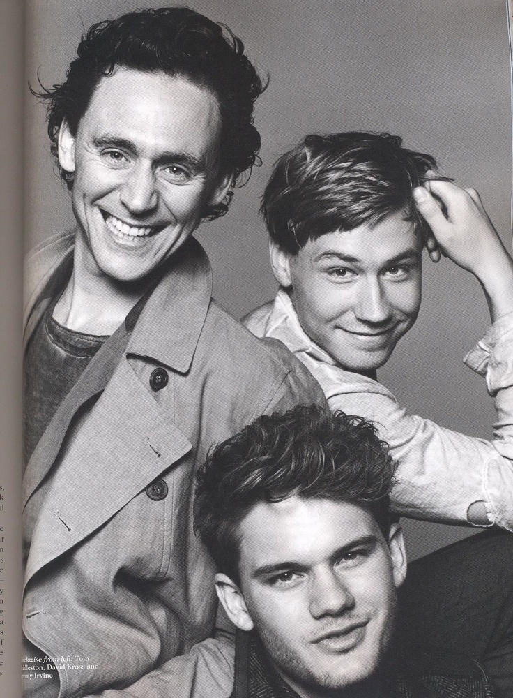 Tom Hiddleston, David Cross, and Jeremy Irvine