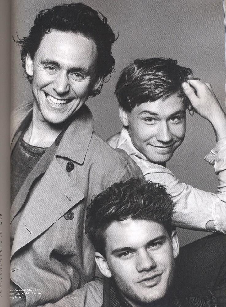 Tom Hiddleston, David Cross, and Jeremy Irvine