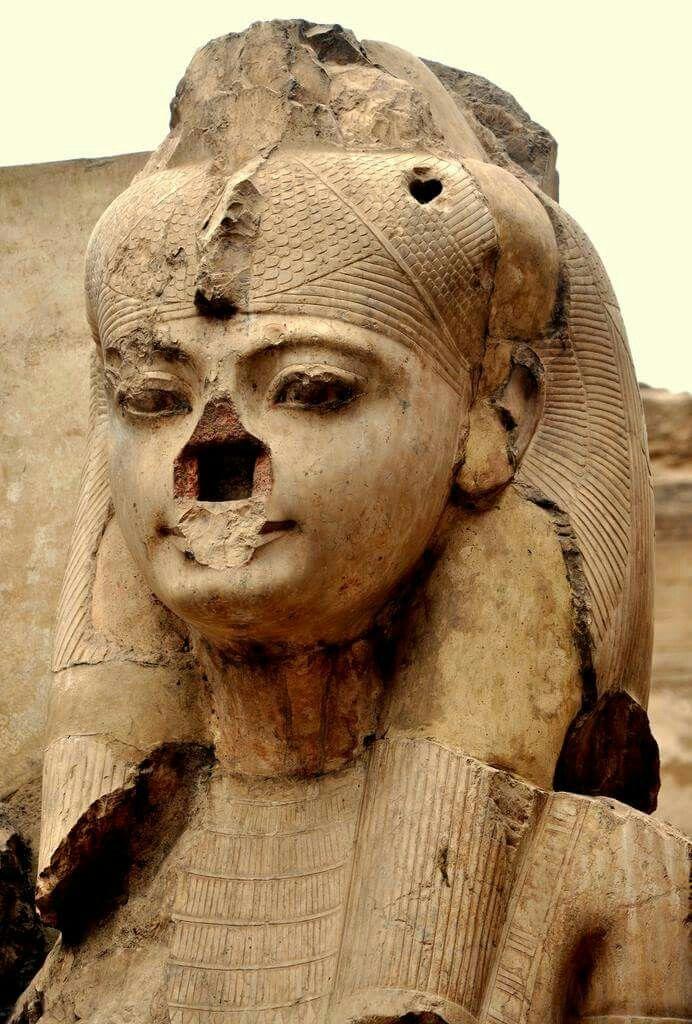 Colossal statue of Ankhesenamun.....Great Royal Wife of Pharaoh Tutankhamun Eighteenth Dynasty of Egypt.