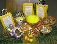 """Easter Basket of Meaning...  In this Easter Basket are objects that represent more than you may realize...    The bed of Easter grass represents the hay in the manger where baby Jesus was laid. (Luke 2:11-12)    The goldfish crackers remind us that Jesus tells us """"Come follow me & I will make you fishers of men & women."""" (Mark 1:17)    MORE AT THE LINK... shows what each of the other items represent, and what is printed on the label placed on the bags."""