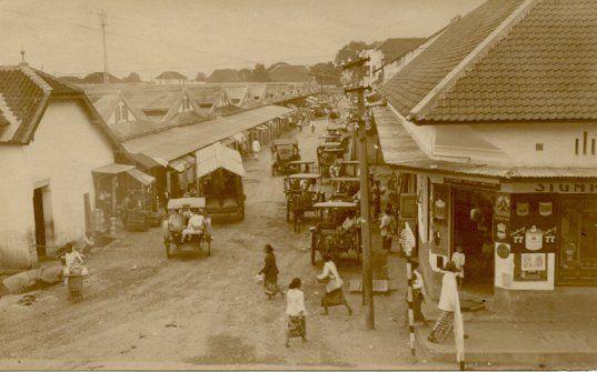 Chineese wijk te Malang circa 1900.