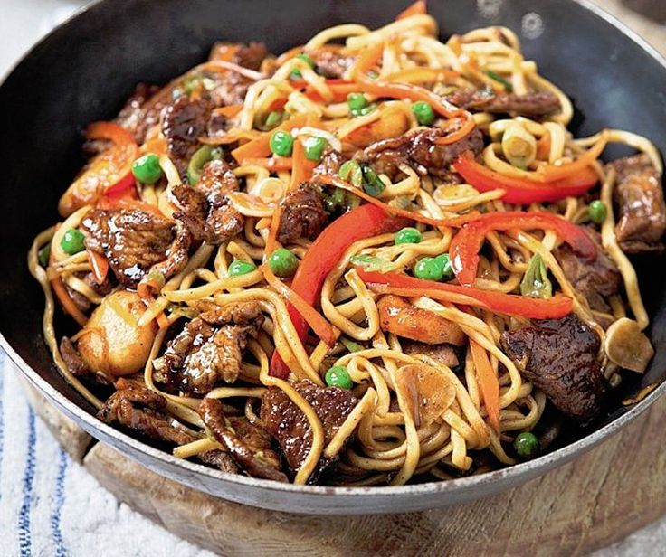 Pork chow mein: If you love noodles – like we do – you'll love chow mein. The secret to success is to have some of the noodles nice and crispy and others soft, and this is easiest to do in a wok. You could call this dish a one-wok wonder.