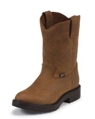 Justin Original Work Children's Work Aged Bark Man-Made Boot 3.5 Justin Boots. $73.95