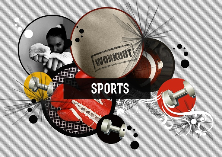 Sports collage by Sofia Langenskiold