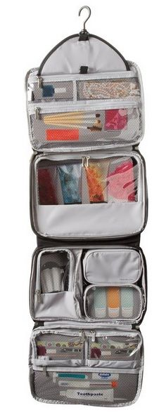 Best hanging toiletry bag - it is so big and has lots space that you can easily find what you need at any moment.