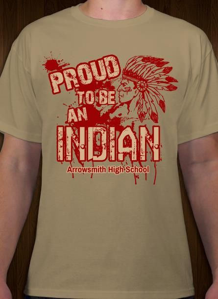 14749a254 Indian mascot t-shirt design. Personalize tees online. | Sports ...