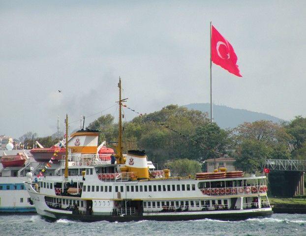 Ferry on the Bosphorus - Istanbul, Turkey