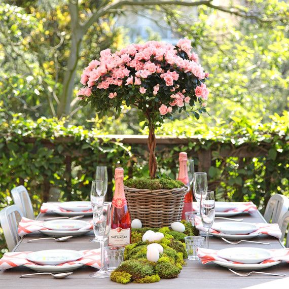 A toast to spring heres how to host a rosé inspired easter easter table settingsparty decoration ideasparties
