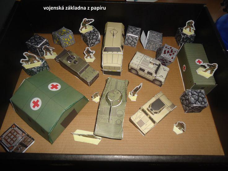 Vojenská základna z papíru...