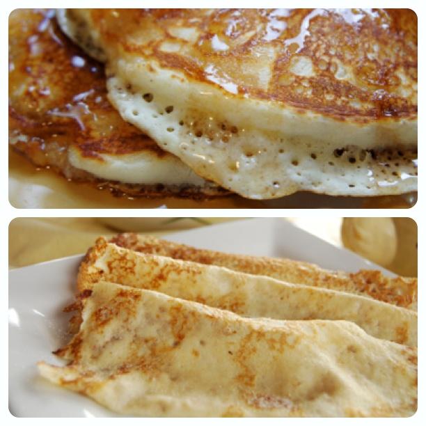 American Pancake vs. British Pancake (American pancake image by Lara604 http://www.flickr.com/photos/lara604/)