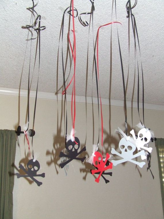 Pirate Birthday Party Streamers by welcometomystore on Etsy, $7.00