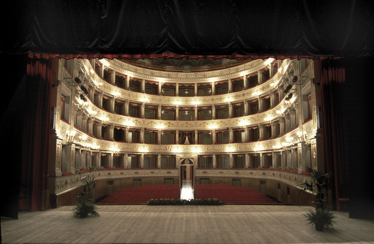 Gentile Theatre - The first community theatre was inaugurated on St. John's day in 1692 inside the Palazzo Comunale. The theatre is considered to be one of the most elegant and beautiful theatre in Marche, it is well known and highly esteemed for both its structure and its excellent acoustics. #Fabriano #Marche #Theatre #Teatro #Gentile #Academy