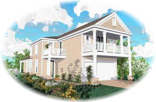 Beautiful House Plans Garage Under Pictures D House Designs - House design with garage underneath