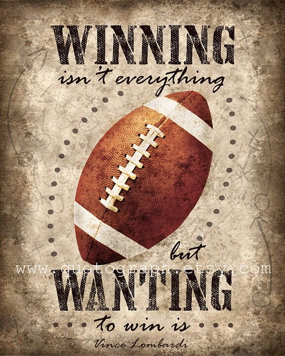 Vince Lombardi Football Quote photo print Poster by quotograph