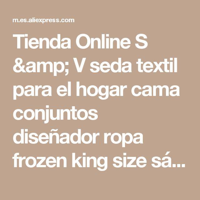 Tienda Online S & V seda textil para el hogar cama conjuntos diseñador ropa frozen king size sábanas navidad regalos de año nuevo | Aliexpress móvil