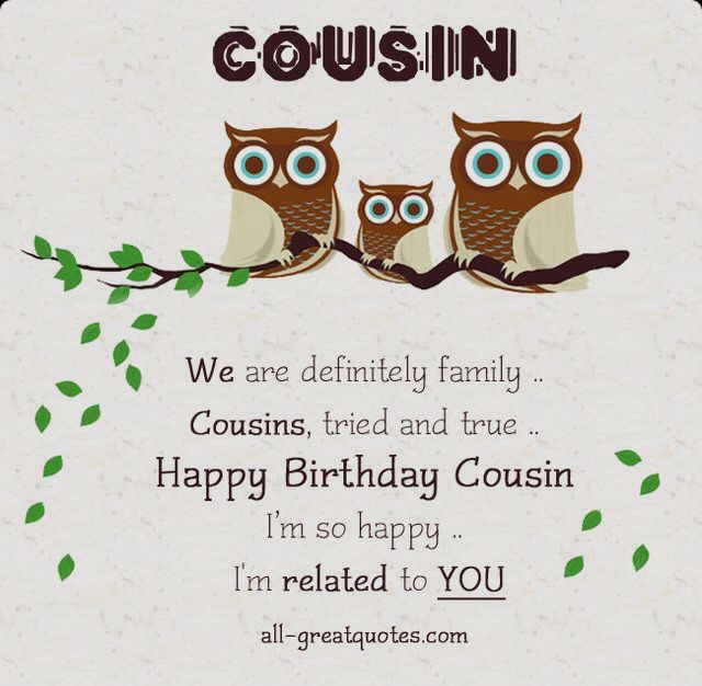 Best 25 Happy birthday cousin ideas – Free Birthday Messages for Cards