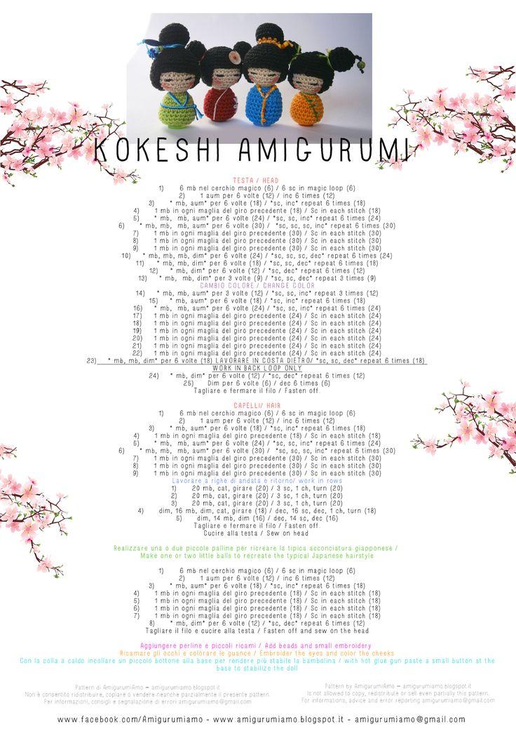 AmigurumiAmo: Kokeshi pattern