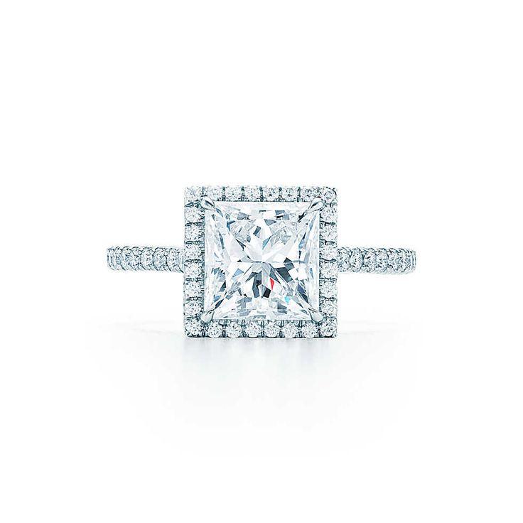 Tiffany Soleste®, taille princesse Bagues de Fiançailles   Tiffany & Co.