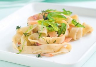 Tagliatelle cu somon- Cand ti-e tare foame si vrei sa mananci sanatos pregateste-ti repede aceste paste cu gust marin!