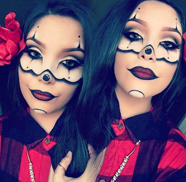 Chicano clown gangsta makeup