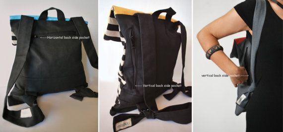 Alla moda zaino borsa Messenger a strisce di di misirlouHandmade