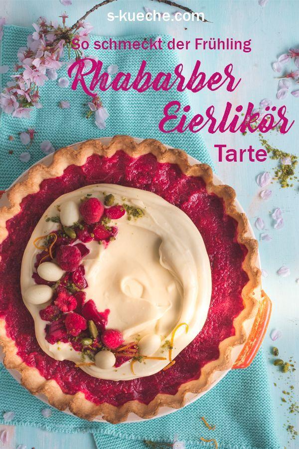 Rhabarber Himbeer Tarte Mit Eierlikor Mascarponecreme Himbeer Tarte Fruhling Kuchen Rhabarber