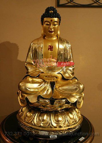 GOLD STING BUDDHA STATUE BRINGS THE PEACE AND HORMONES TO THE HOUSE 15''H X 10''W AND IT'S 20 LB