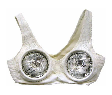 *lmao* and they actually light up!- I DARE someone to wear this bra (with the lights one) while riding a bicycle. lol