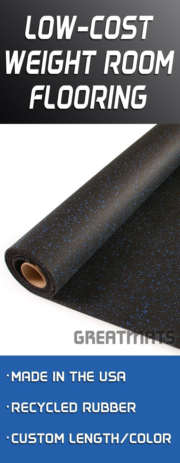Rubber Flooring Rolls All Sizes and Colors Workout room