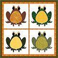 Verschillende leuke, gratis, applicatie quilt patronen van FatCat designs.