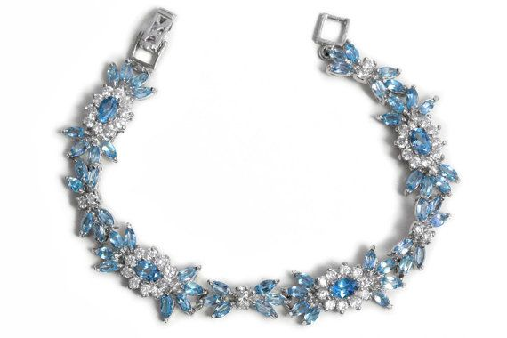 Marquise cut Topaz Bracelet with Cubic Zirconia Silver by Tezsahcom https://www.etsy.com/listing/260245436/marquise-cut-topaz-bracelet-with-cubic?ref=rss