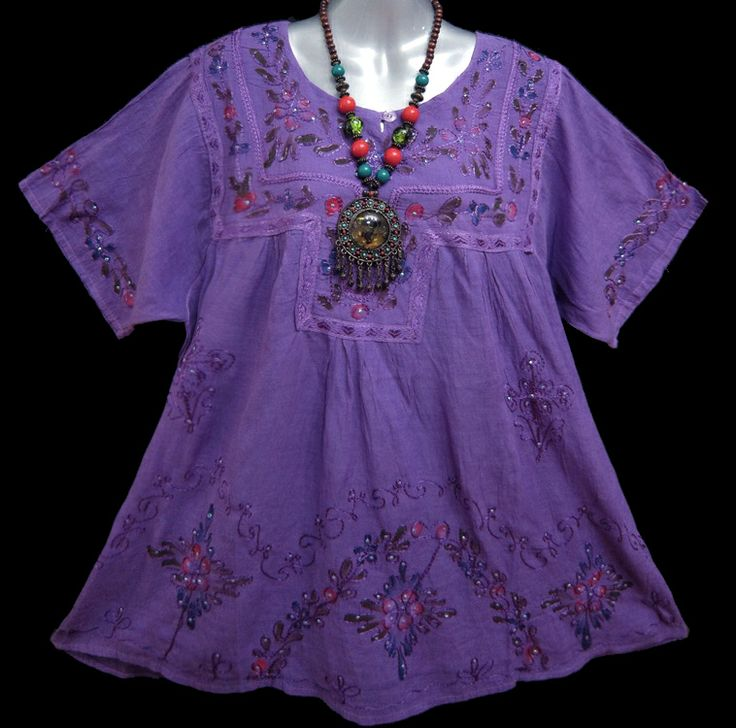 Gypsy Peasant Blouse | Ladies Casual Peasant Gypsy Vintage Floral Purple Top Blouse One Size ...