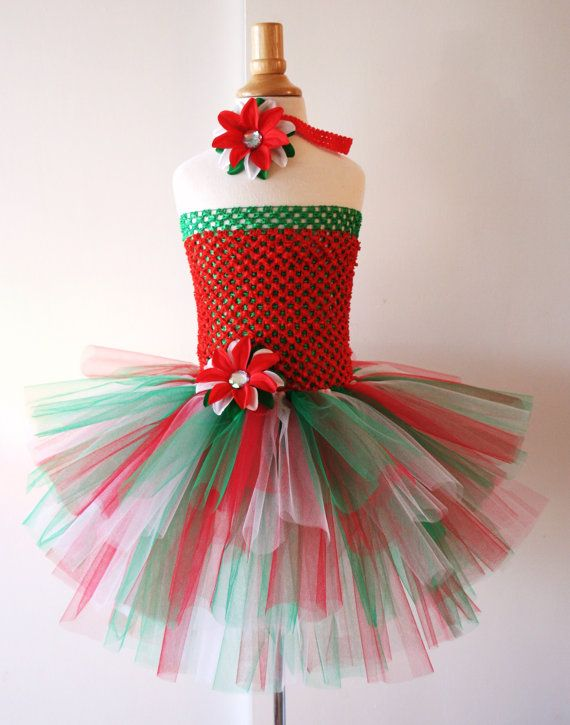 Free Gift  Baby girls Christmas tutu dress with by AydaAndEmilys, $34.95