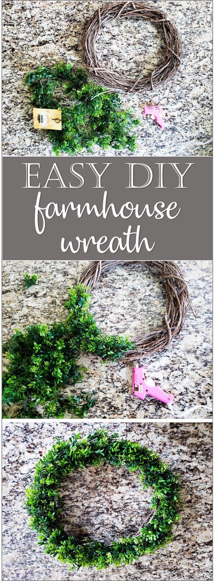 Super easy farmhouse sign & DIY wreath! Free printable – Little Blonde Mom Blog #farmhousedecor #modernfarmhouse #freeprintable #printable