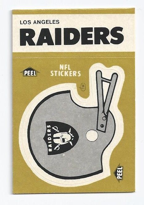 1983 la raiders sticker - 1983 game schedule on back from $1.99