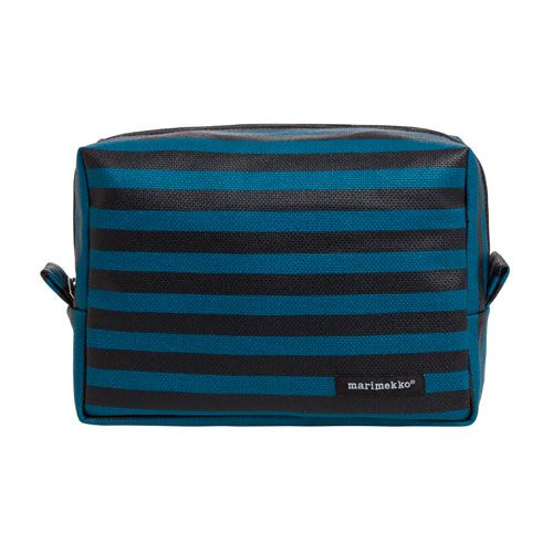 Marimekko Verso Large Petrol/Black Cosmetic Bag $89.00