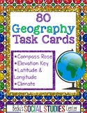 80 Geography Task Cards - Map Skills