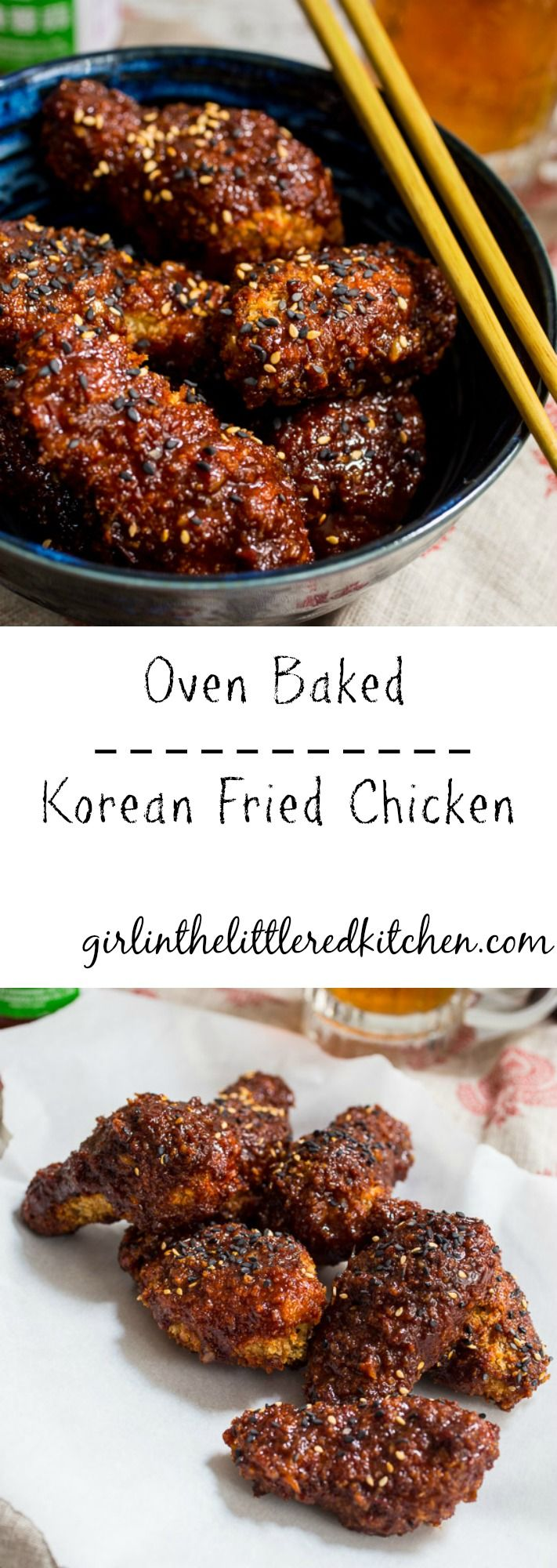 Oven Baked Korean Fried Chicken
