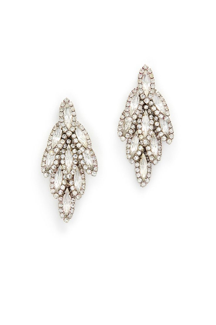 Rent Bacall Earrings by Elizabeth Cole for $10 only at Rent the Runway.