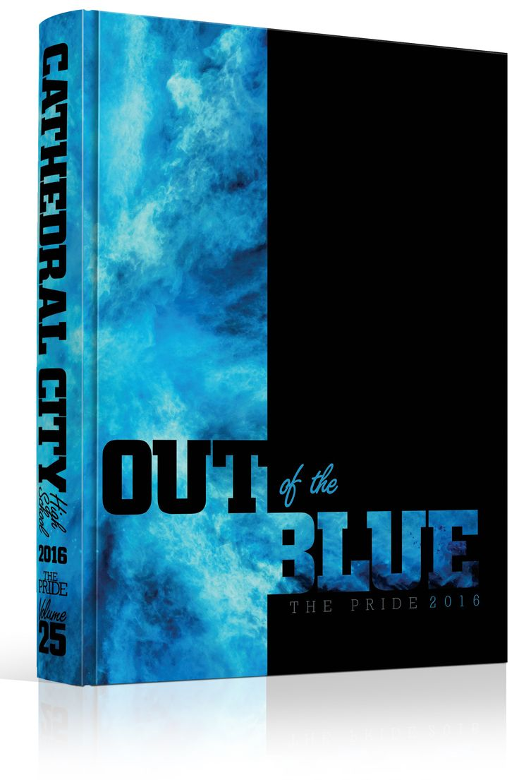 "Yearbook Cover - Cathedral City High School - ""Out of the Blue"" Theme - School…"
