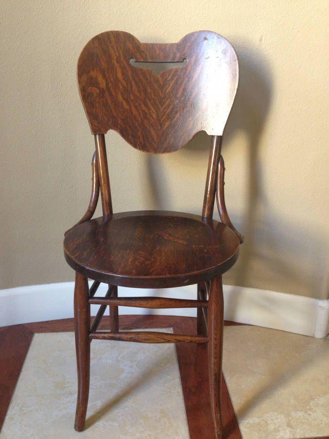 Antique Crocker Chair Co. Sheboygan Solid Wood Desk Or Vanity Chair